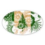 Norfolk Island Flag Sticker (Oval 50 pk)