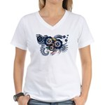 North Dakota Flag Women's V-Neck T-Shirt