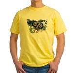 North Dakota Flag Yellow T-Shirt