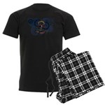 North Dakota Flag Men's Dark Pajamas
