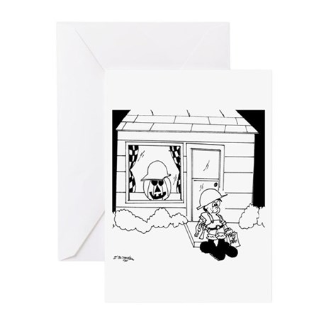 Contractor Halloween Costume Greeting Cards (Pk of