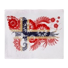 Norway Flag Throw Blanket