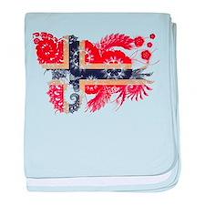 Norway Flag baby blanket