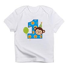Boy Monkey 1st Birthday Infant T-Shirt