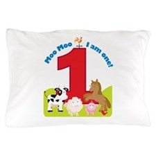 Barnyard 1st Birthday Pillow Case