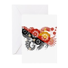 Papua new Guinea Flag Greeting Cards (Pk of 10)