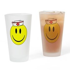 Registered Nurse Happy Face Drinking Glass