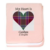 Heart - Gordon of Abergeldie baby blanket