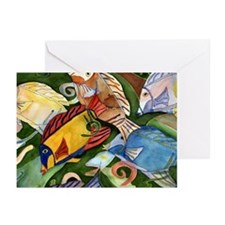 Tropical Fish School Greeting Cards (Pk of 10)