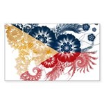 Philippines Flag Sticker (Rectangle 10 pk)