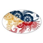 Philippines Flag Sticker (Oval)