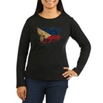 Philippines Flag Women's Long Sleeve Dark T-Shirt