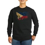 Philippines Flag Long Sleeve Dark T-Shirt