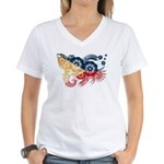 Philippines Flag Women's V-Neck T-Shirt