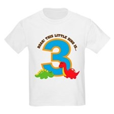 Dinosaur 3rd Birthday T-Shirt