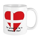 Denmark fan flag Mug