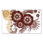 Qatar Flag Sticker (Rectangle 50 pk)