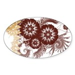 Qatar Flag Sticker (Oval 50 pk)