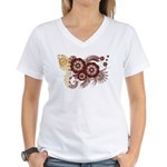Qatar Flag Women's V-Neck T-Shirt