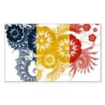 Romania Flag Sticker (Rectangle 50 pk)