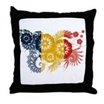 Romania Flag Throw Pillow