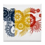 Romania Flag Tile Coaster