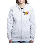 Romania Flag Women's Zip Hoodie
