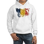 Romania Flag Hooded Sweatshirt