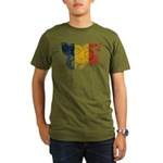 Romania Flag Organic Men's T-Shirt (dark)