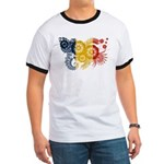 Romania Flag Ringer T