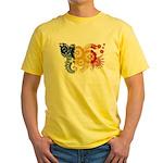 Romania Flag Yellow T-Shirt