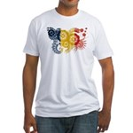Romania Flag Fitted T-Shirt