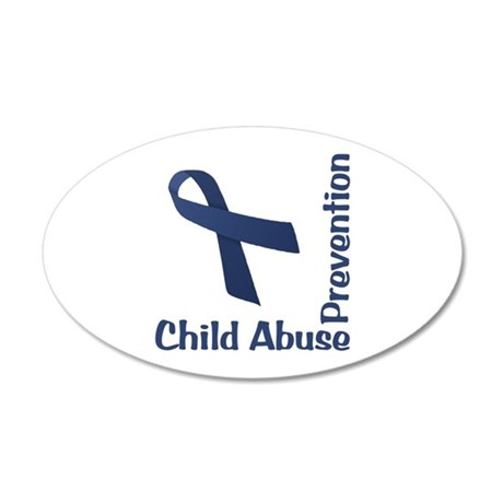 Child Abuse Prevention 38.5 x 24.5 Oval Wall Peel
