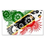 Saint Kitts Nevis Flag Sticker (Rectangle 10 pk)