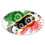 Saint Kitts Nevis Flag Sticker (Oval 50 pk)