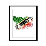 Saint Kitts Nevis Flag Framed Panel Print