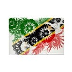 Saint Kitts Nevis Flag Rectangle Magnet (10 pack)
