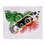 Saint Kitts Nevis Flag Throw Blanket
