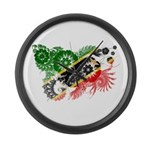 Saint Kitts Nevis Flag Large Wall Clock
