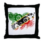 Saint Kitts Nevis Flag Throw Pillow
