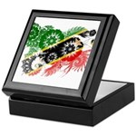 Saint Kitts Nevis Flag Keepsake Box