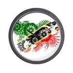 Saint Kitts Nevis Flag Wall Clock
