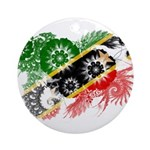 Saint Kitts Nevis Flag Ornament (Round)