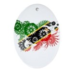 Saint Kitts Nevis Flag Ornament (Oval)