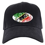 Saint Kitts Nevis Flag Black Cap