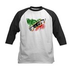 Saint Kitts Nevis Flag Kids Baseball Jersey