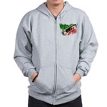 Saint Kitts Nevis Flag Zip Hoodie