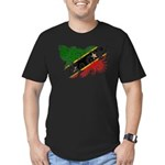 Saint Kitts Nevis Flag Men's Fitted T-Shirt (dark)
