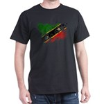 Saint Kitts Nevis Flag Dark T-Shirt