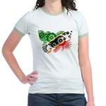 Saint Kitts Nevis Flag Jr. Ringer T-Shirt